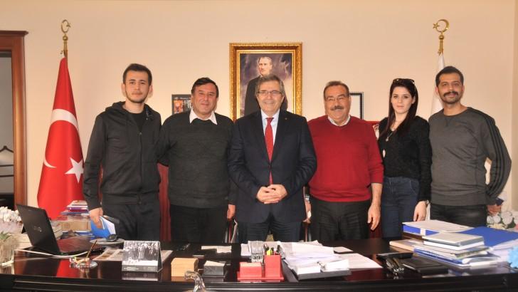 Türkiye Halkoyunları Federasyonu  İl ve İlçe temsilcilerinden Başkan Mirza'ya ziyaret
