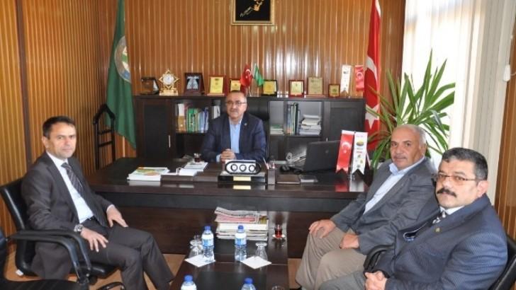 Başkan Avcu ile Müdür Çoker  Eğitim İçin Bir Araya Geldi