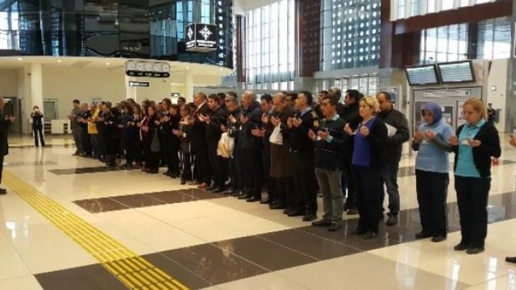 Kocaseyit Havalimanında  Şehitler Dualar ile Anıldı