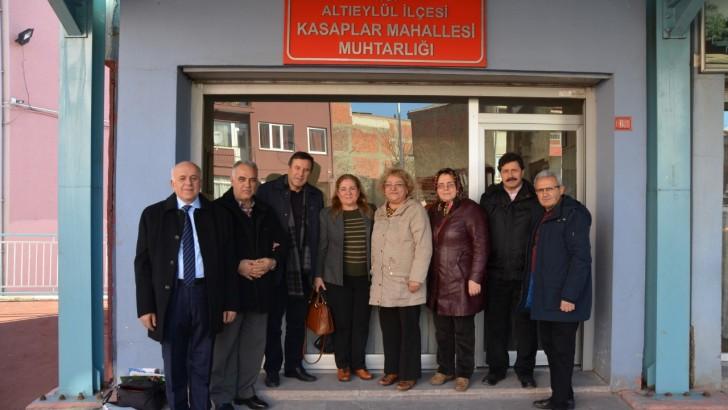 CHP'li Heyetten  Muhtarlara Ziyaret